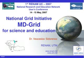 National Grid Initiative MD-Grid for science and education