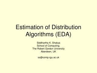 Estimation of Distribution Algorithms (EDA)