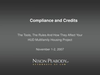 Compliance and Credits