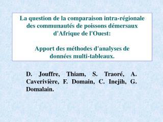 D. Jouffre, Thiam, S. Traoré, A. Caverivière, F. Domain, C. Inejih, G. Domalain.