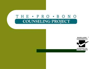 Who is the Pro Bono Counseling Project?