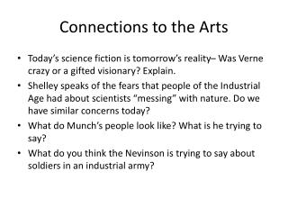 Connections to the Arts