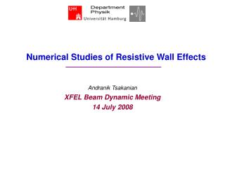 Numerical Studies of Resistive Wall Effects