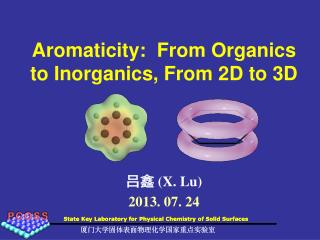 Aromaticity:  From Organics to Inorganics, From 2D to 3D