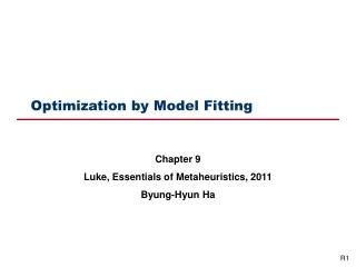 Optimization by Model Fitting