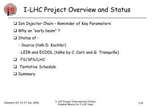 I-LHC Project Overview and Status