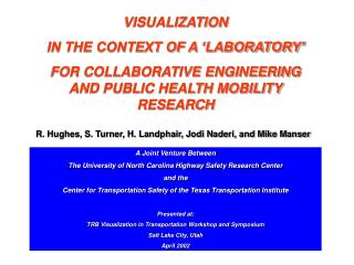 VISUALIZATION  IN THE CONTEXT OF A 'LABORATORY'