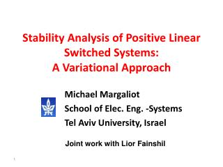 Stability Analysis of Positive Linear Switched Systems: A Variational Approach