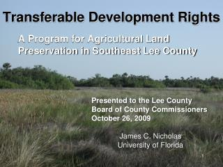 Transferable Development Rights