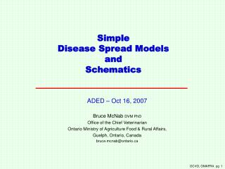 Simple  Disease Spread Models and   Schematics