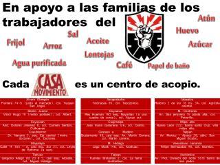 En apoyo a las familias de los trabajadores  del
