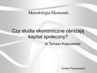 Metodologia Ekonomii