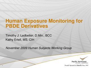Human Exposure Monitoring for PBDE Derivatives