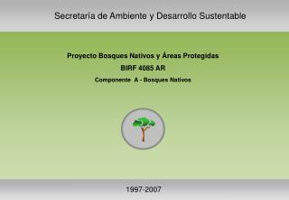 Proyecto Bosques Nativos y Áreas Protegidas BIRF 4085 AR Componente  A - Bosques Nativos