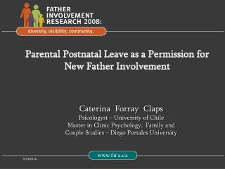 Parental Postnatal Leave as a Permission for New Father Involvement