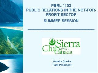 PBRL 4102   PUBLIC RELATIONS IN THE NOT-FOR-PROFIT SECTOR SUMMER SESSION ______________________
