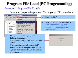 Program File Load (PC Programming)