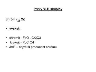 Prvky VI.B skupiny