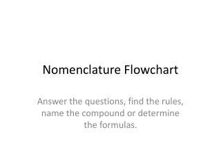 Nomenclature Flowchart