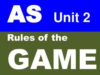 AS    Unit 2