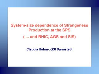 System-size dependence of Strangeness Production at the SPS ( ... and RHIC, AGS and SIS)