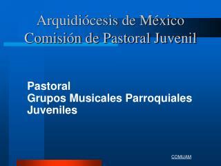 Arquidiócesis de México Comisión de Pastoral Juvenil