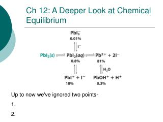 Ch 12: A Deeper Look at Chemical Equilibrium
