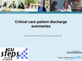 Critical care patient discharge summaries