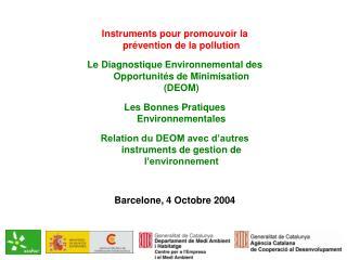 Instruments pour promouvoir la prévention de la pollution