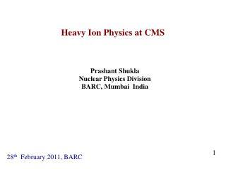 Heavy Ion Physics at CMS