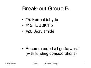 Break-out Group B