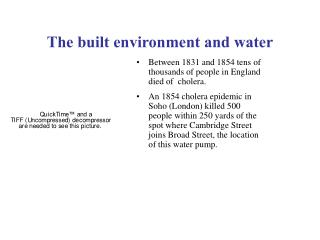 The built environment and water