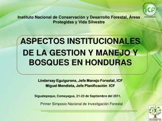 Instituto Nacional de Conservación y Desarrollo Forestal, Áreas Protegidas y Vida Silvestre