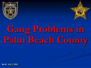 Gang Problems in Palm Beach County