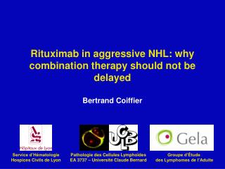 Rituximab in aggressive NHL: why combination therapy should not be delayed