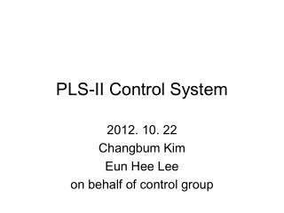 PLS-II Control System