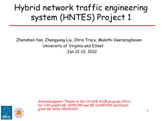 Hybrid network traffic engineering system (HNTES) Project 1