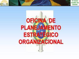 OFICINA  DE PLANEJAMENTO ESTRATÉGICO ORGANIZACIONAL