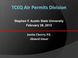 TCEQ Air Permits Division
