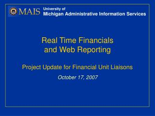 University of Michigan Administrative Information Services