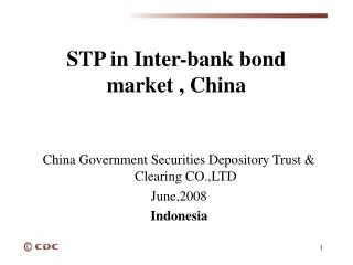 S TP  in Inter-bank bond market ,  China