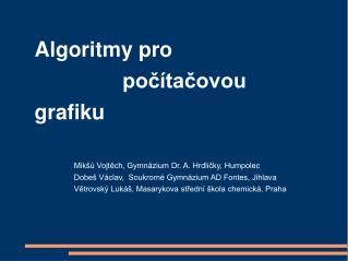 Algoritmy pro