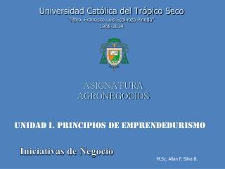 ASIGNATURA AGRONEGOCIOS