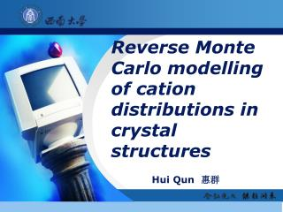 Reverse Monte Carlo modelling  of cation distributions in crystal structures
