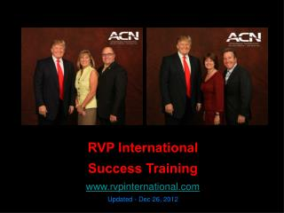 RVP International Success Training rvpinternational Updated - Dec 26, 2012