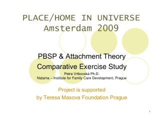 PLACE/HOME IN UNIVERSE Amsterdam 2009