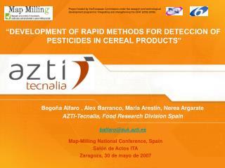 Map-Milling National Conference, Spain Salón de Actos ITA Zaragoza, 30 de mayo de 2007