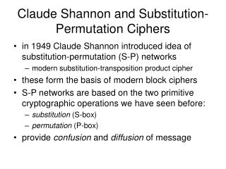 Claude Shannon and Substitution-Permutation Ciphers