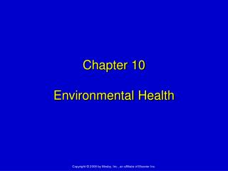 Chapter 10 Environmental Health