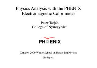 Physics Analysis with the PHENIX Electromagnetic Calorimeter